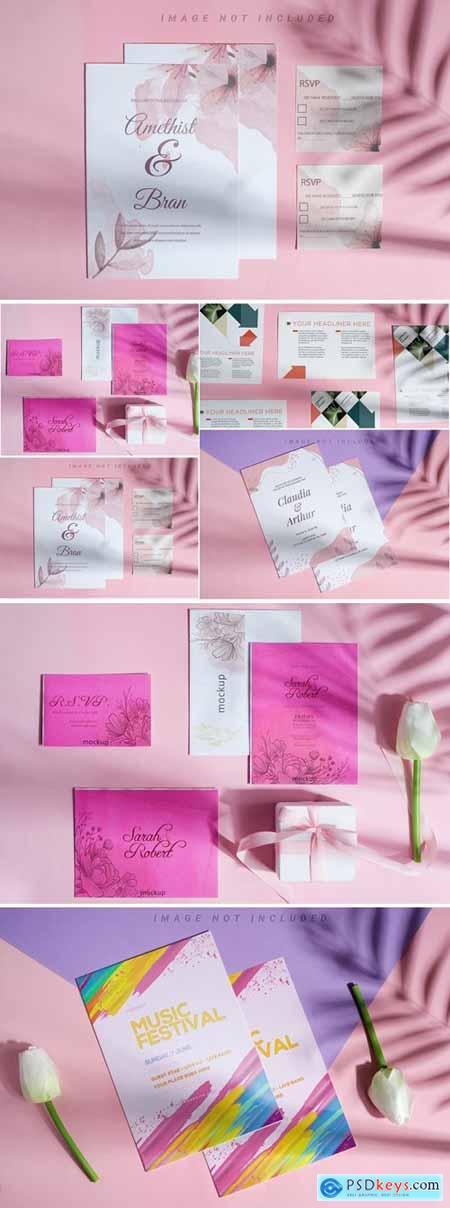 Brochure & Card Mockup