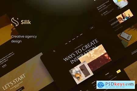 Silik Creative Agency PSD Template