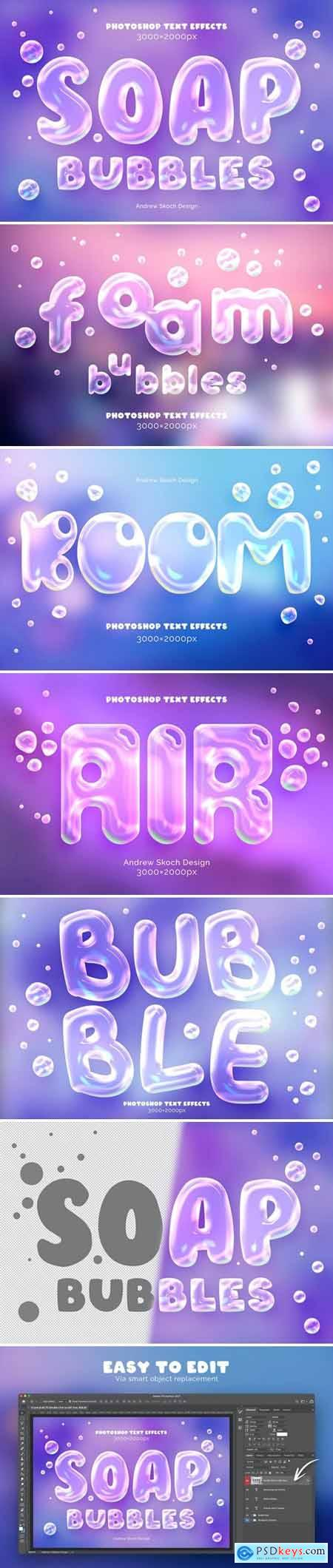 Soap Bubbles Text and Logo Effect