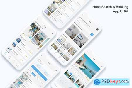 Hotel Search & Booking App UI Kit