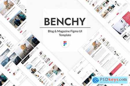 Benchy - Blog & Magazine Figma UI Template