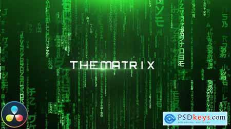 The Matrix Cinematic Titles DaVinci Resolve 33220077