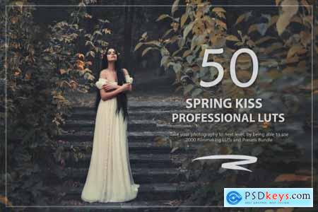 50 Spring Kiss LUTs and Presets Pack