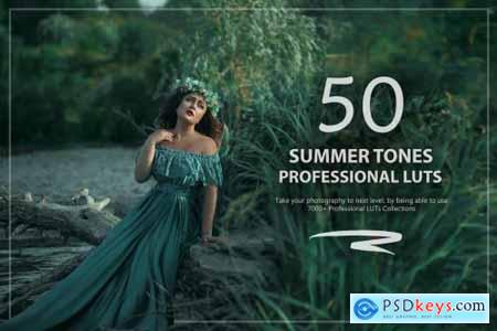 50 Summer Tones LUTs and Presets Pack