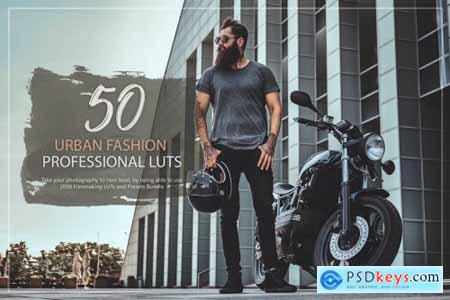50 Urban Fashion LUTs and Presets Pack