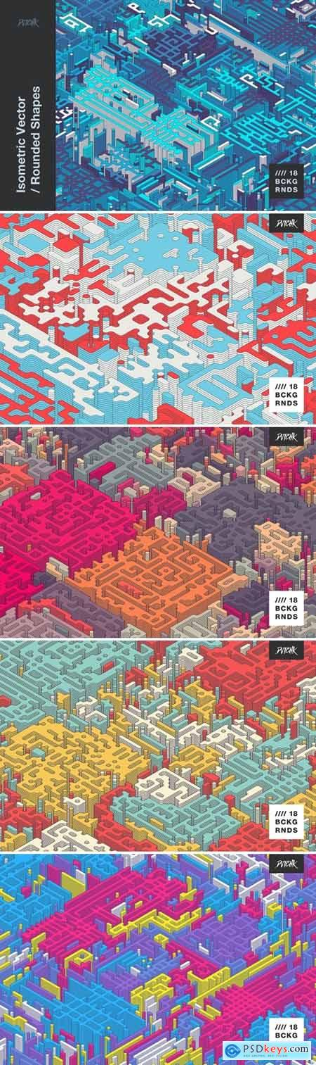 Isometric Vector - Rounded Shapes