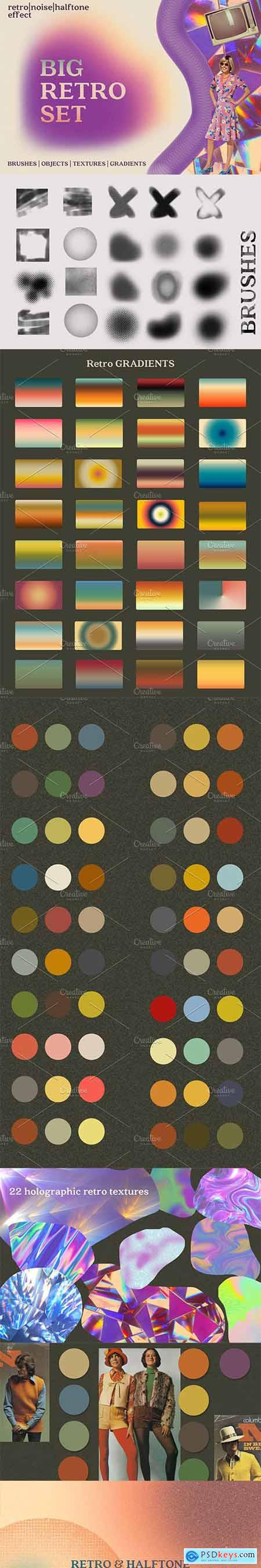 RETRO SET Effects Brushes Gradients 5893163