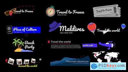Travel Lower Thirds 33321585