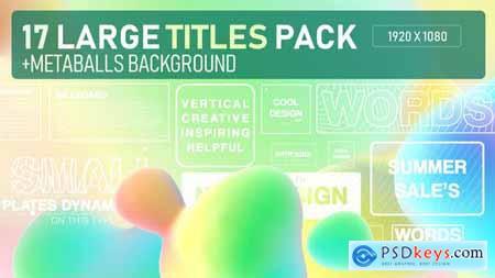 Metta Balls Titles Pack 33314509