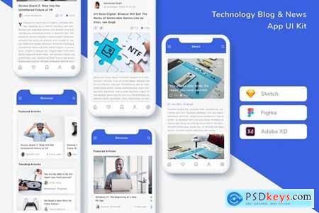 Technology Blog & News App UI Kit