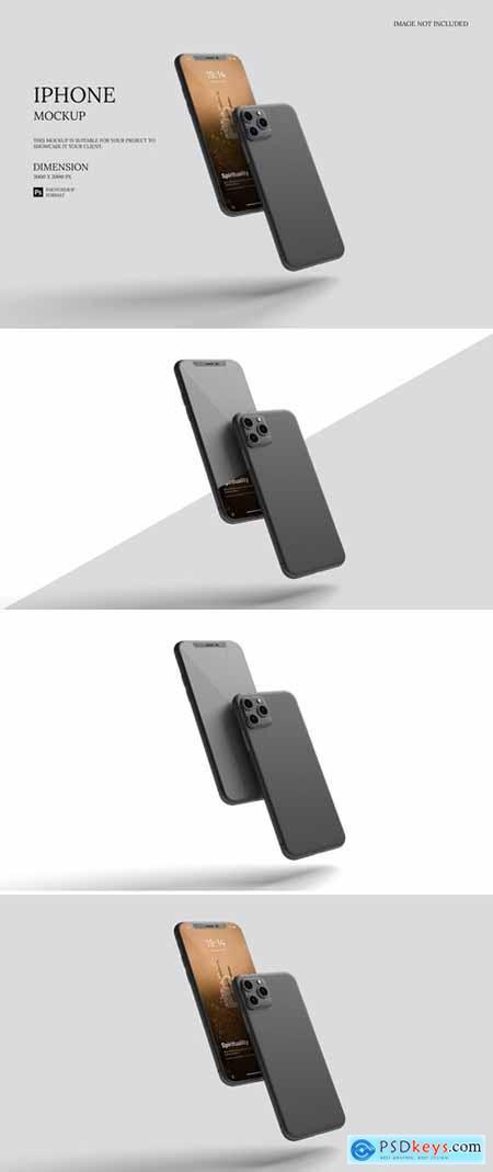 Floating IPhone - Mockup