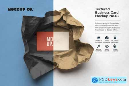 Textured Business Card Mockup No.02
