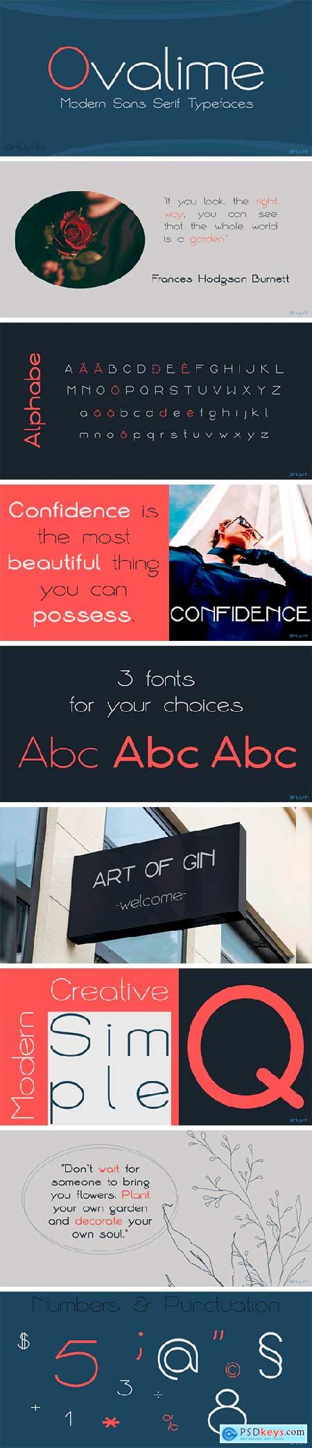 Ovalime Font Family