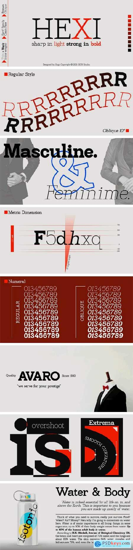 Hexi Font Family