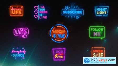 Neon Titles -- Premiere Pro MOGRT 33286788