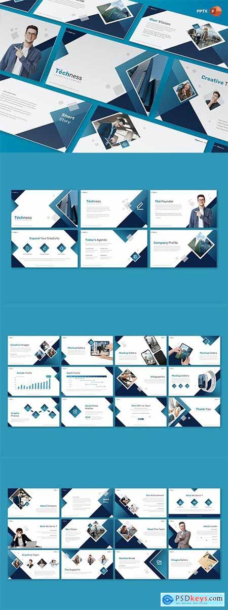 Techness - Business - Powerpoint, Keynote and Google Slides Template