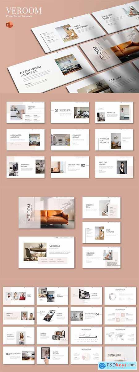Veroom - Furniture - Powerpoint, Keynote and Google Slides Template