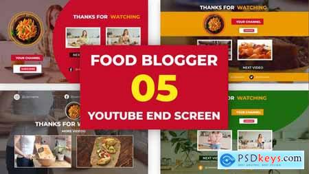 Food Channel Youtube End Screen 33342409