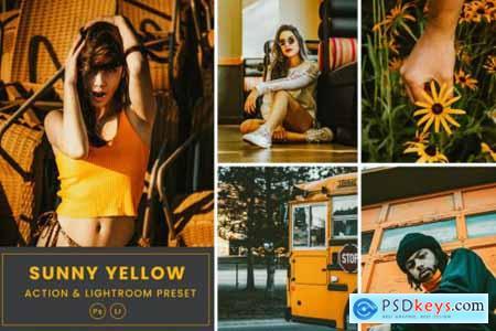 Sunny Yellow Action & Lightrom Presets