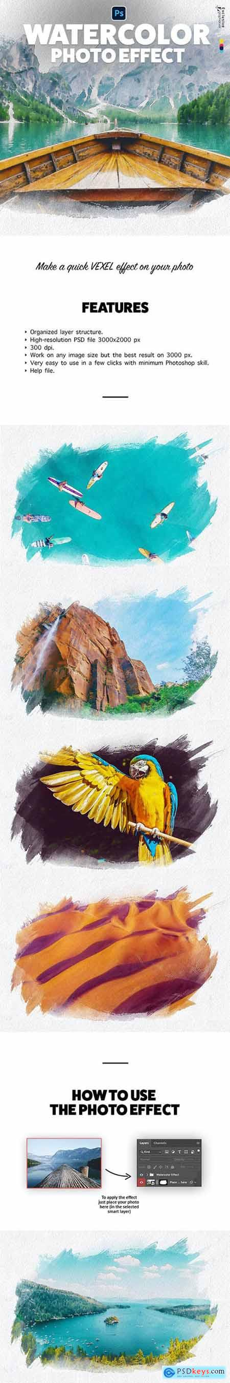 Watercolor Photo Effect 32788587