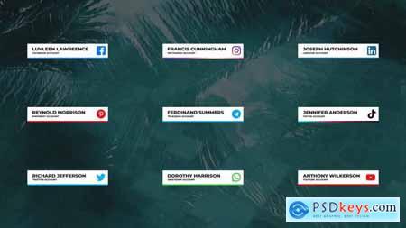 Social Media Lower Thirds For DaVinci Resolve 33337970