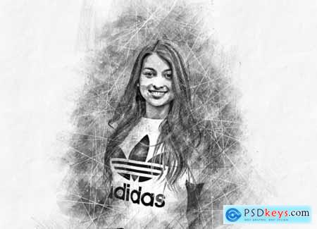 Portrait Sketcher Photoshop Action 6355523