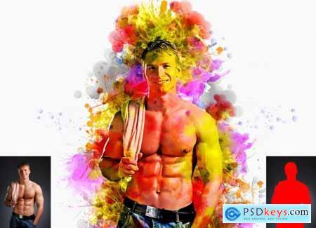 Vector Watercolor Photoshop Action 6373794