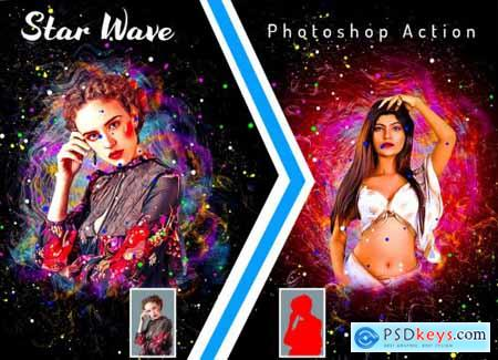 Star Wave Photoshop Action 6358696