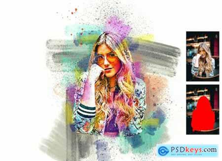 Realistic Painting Photoshop Action 6363983