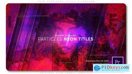 Neon Particles Titles Slideshow 33305994
