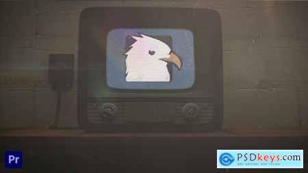 Old TV Glitch Logo Reveal For Premiere Pro 32670232
