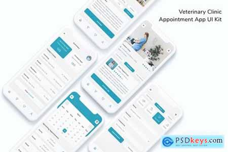 Veterinary Clinic Appointment App UI Kit