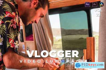 Vlogger Pack Video LUTs Vol.22
