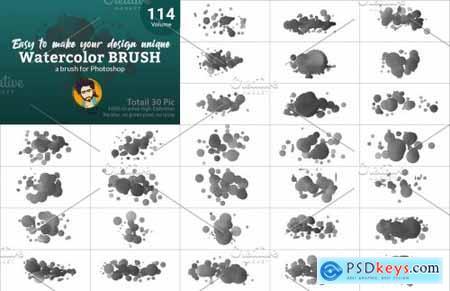 Watercolor Brush Bundle Vl 05 5746838