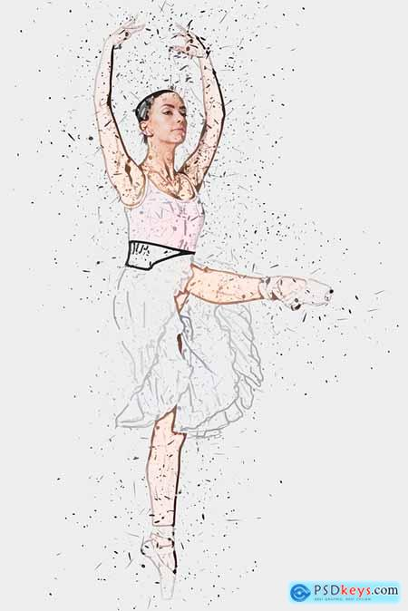 Ink Art Manipulation Photoshop Action 23610745