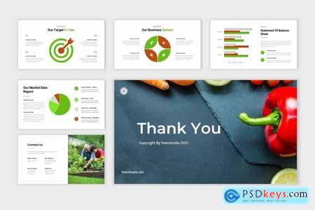 Vegetan - Organic Food & Vegetable Powerpoint, Keynote and Google Slides Template