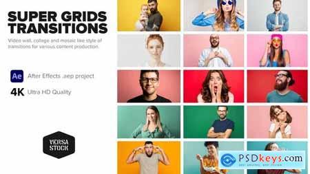 Super Grid Transitions Video Wall 4K 33516786