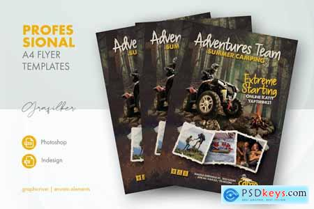 Camping Adventure Flyer Templates 27511265