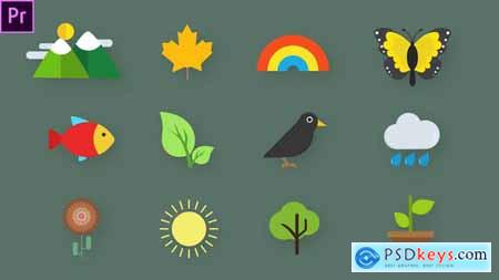 Nature Animated Icons 33560729