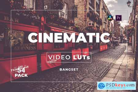Bangset Cinematic Pack 54 Video LUTs Y85NNTJ