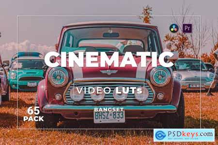 Bangset Cinematic Pack 65 Video LUTs WM9WAJR