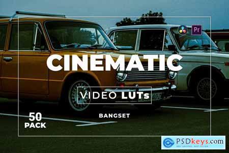 Bangset Cinematic Pack 50 Video LUTs 9VXMHC9