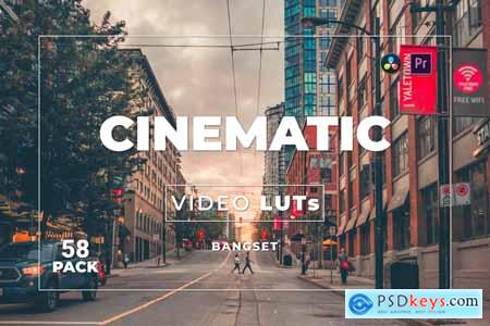 Bangset Cinematic Pack 58 Video LUTs WTZ3ZVW