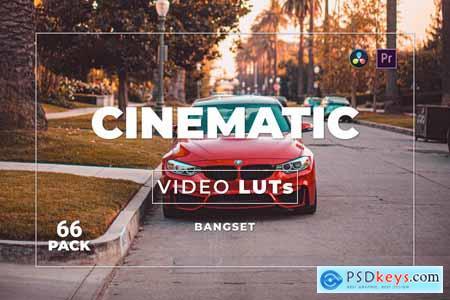 Bangset Cinematic Pack 66 Video LUTs FAJ67QH