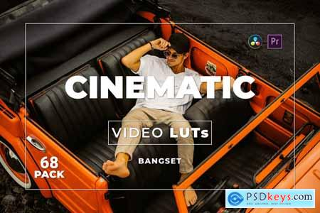 Bangset Cinematic Pack 68 Video LUTs HTUAQVT