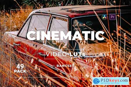 Bangset Cinematic Pack 49 Video LUTs