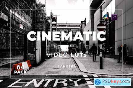 Bangset Cinematic Pack 64 Video LUTs 9AZ848E