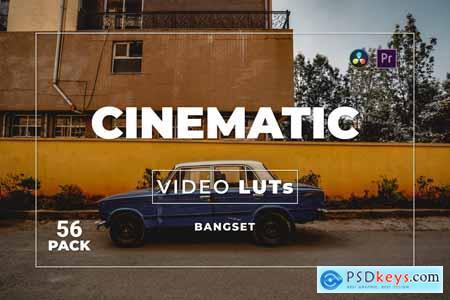 Bangset Cinematic Pack 56 Video LUTs 78955K6