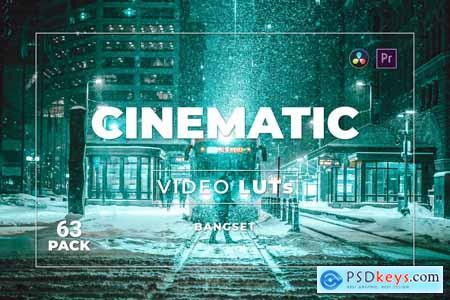 Bangset Cinematic Pack 63 Video LUTs D58XXEZ