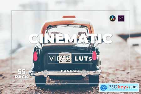 Bangset Cinematic Pack 55 Video LUTs YUXWG69